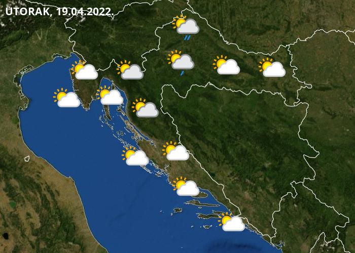 Vremenska prognoza za Hrvatsku