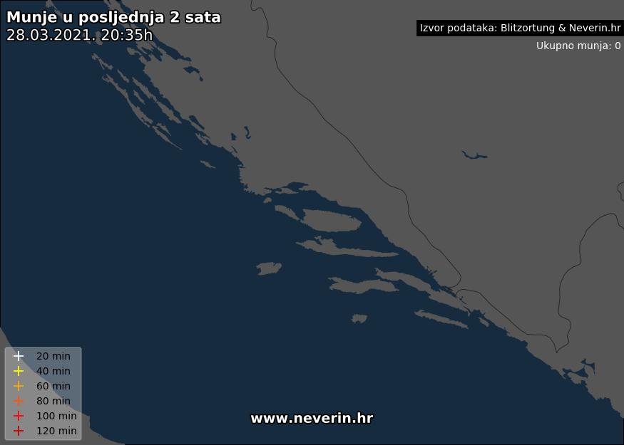 Radar munja Dalmacija