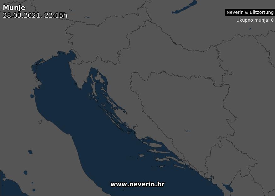 Radar munja Hrvatska