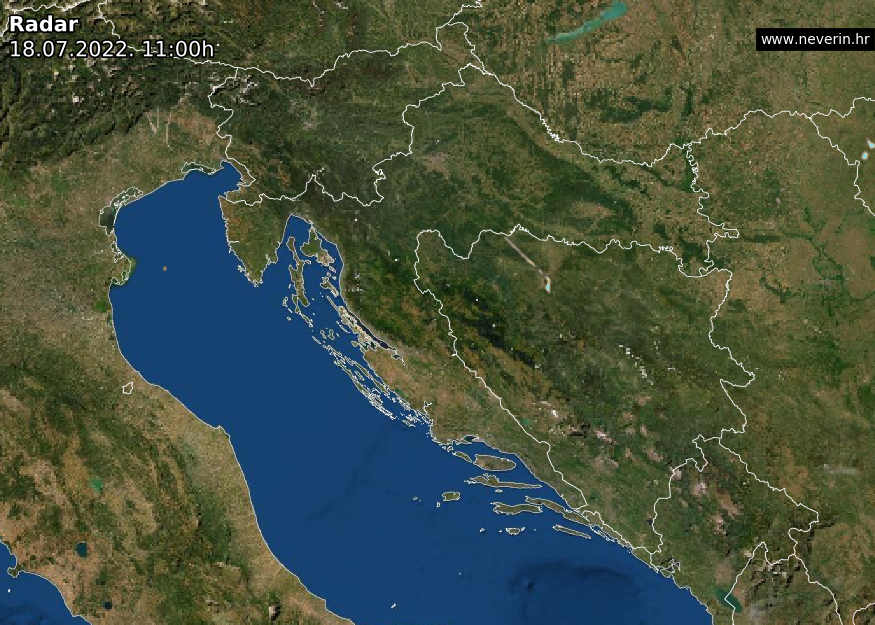 Radarska snimka Hrvatska