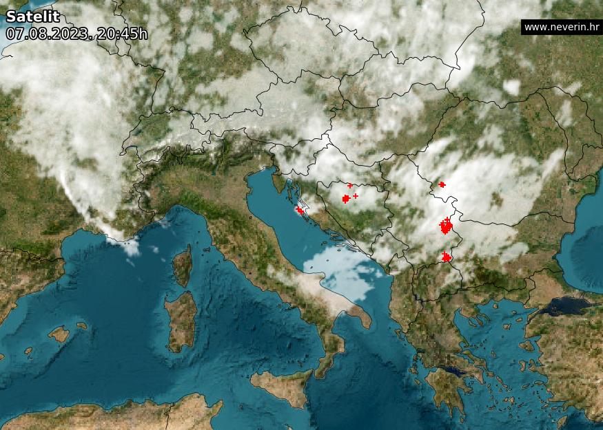 Satelitska snimka Europa