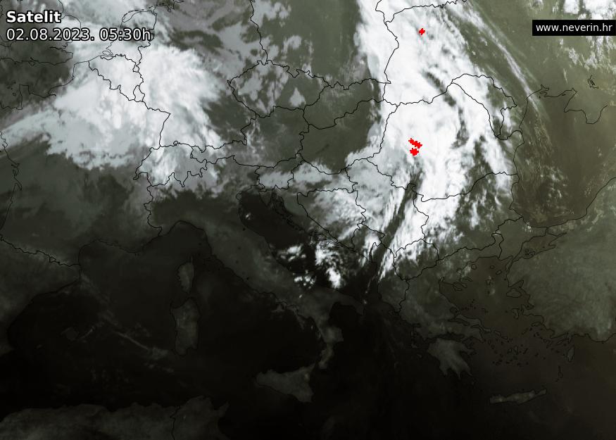 Satelitska snimka Europe