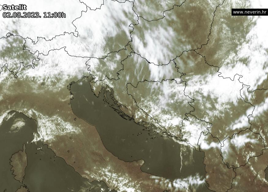 Satelitska snimka Hrvatska